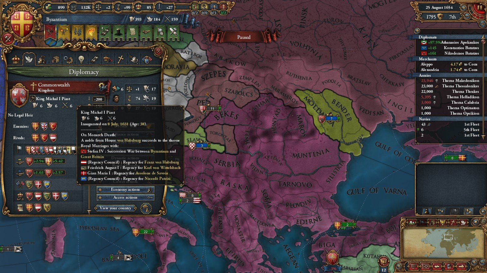 Byzantium aar part 2 byzantiums hero journey after action report but austrians may have a headstart what does the future hold i wonder will i ever integrate russia gumiabroncs