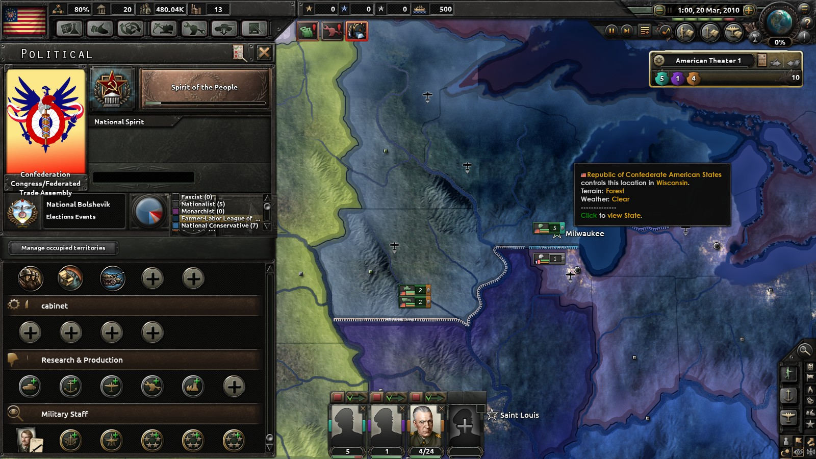 An American Risorigmento Part 1: Red World HOI4 (Slightly