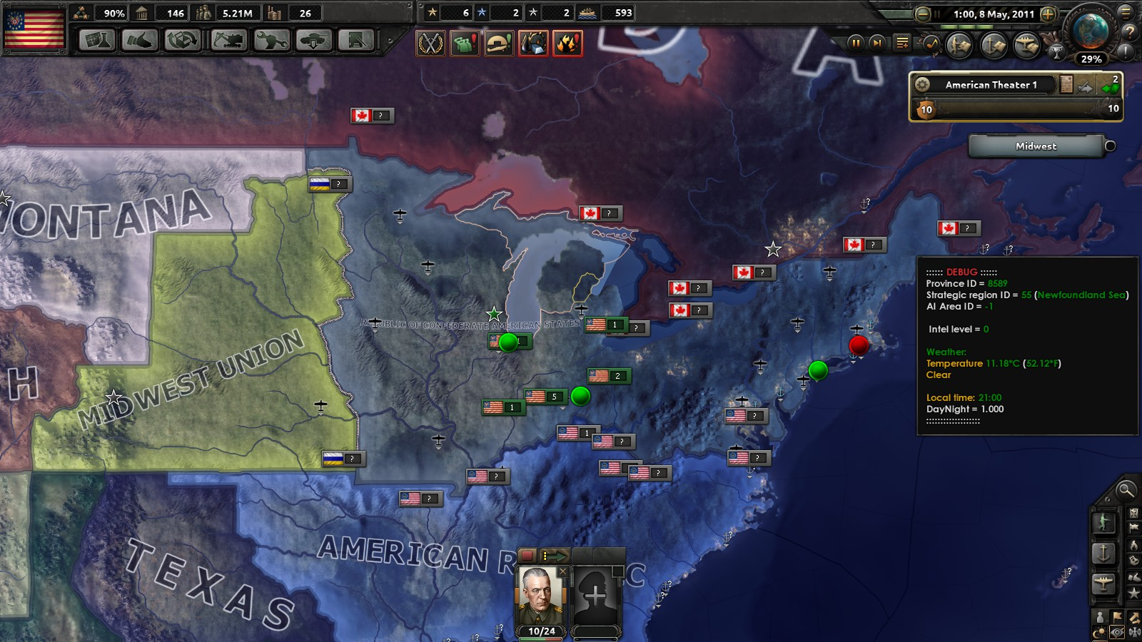 An American Risorigmento Part 1: Red World HOI4 (Slightly Modified