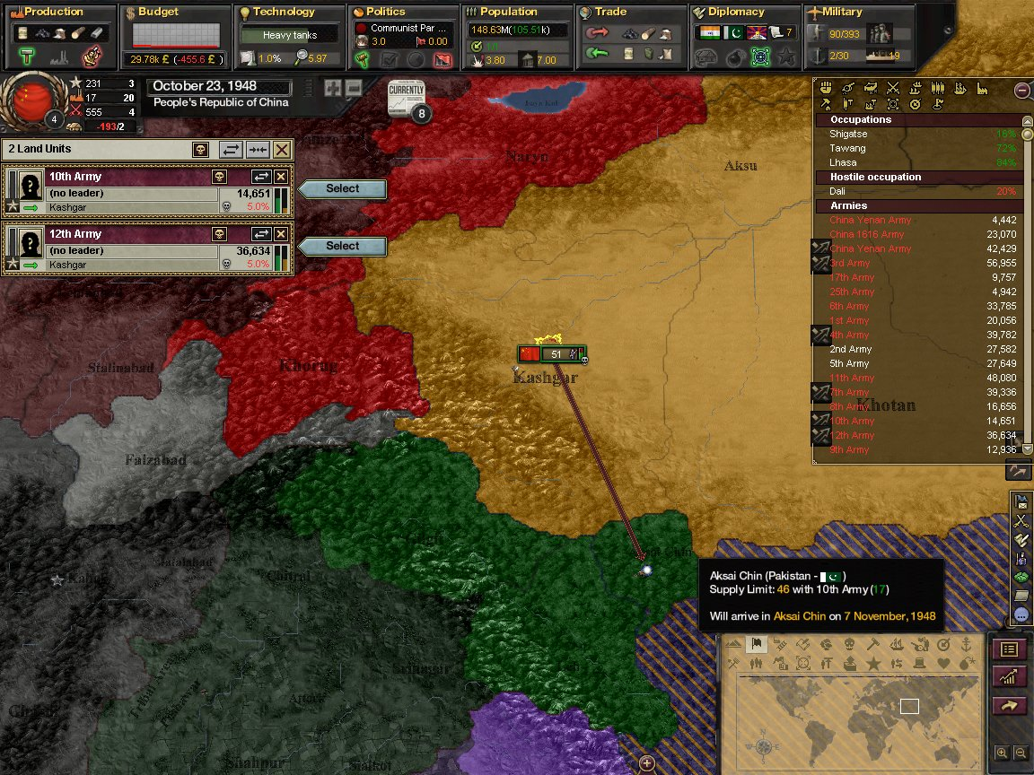 The People's Republic of China - NWO Victoria 2 AAR #4