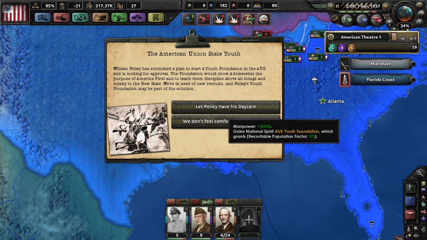 The Kingfish (A HOI4 Kaiserreich American AAR) - Part 2: The Rise of